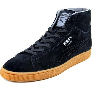 Puma Suede Mid Emboss Men Round Toe Suede Sneakers