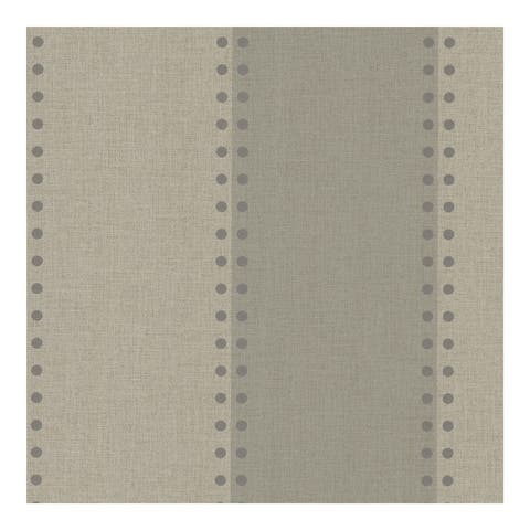 Cullen Storm Nailhead Stripe Wallpaper - 324in x 27in 0.25in