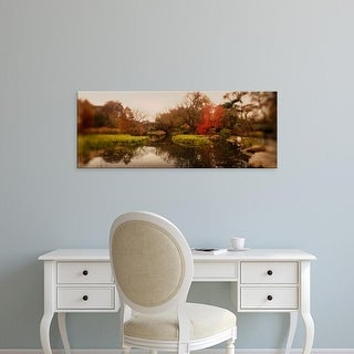 Easy Art Prints Panoramic Image 'Pond in a park, Central Park, Manhattan, New York City, New York State' Canvas Art