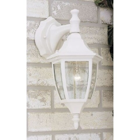 "Designers Fountain 2461-WH 1 Light 7"" Cast Aluminum Wall Lantern"