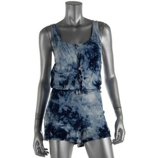 Current/Elliott Womens Juniors Cotton Tie-Dye Romper - 3