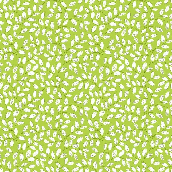 York Wallcoverings Kb8518 Mini Vine Wallpaper Lime Green White