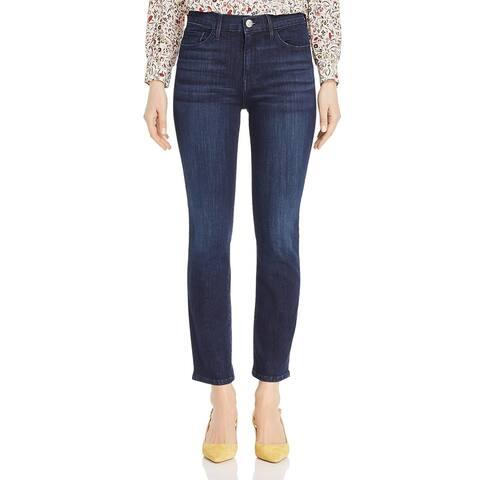 3x1 Womens Straight Crop Jeans Denim Dark Wash - James - 27