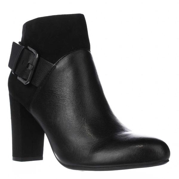 B35 Nimble Buckle Dress Ankle Boots, Black