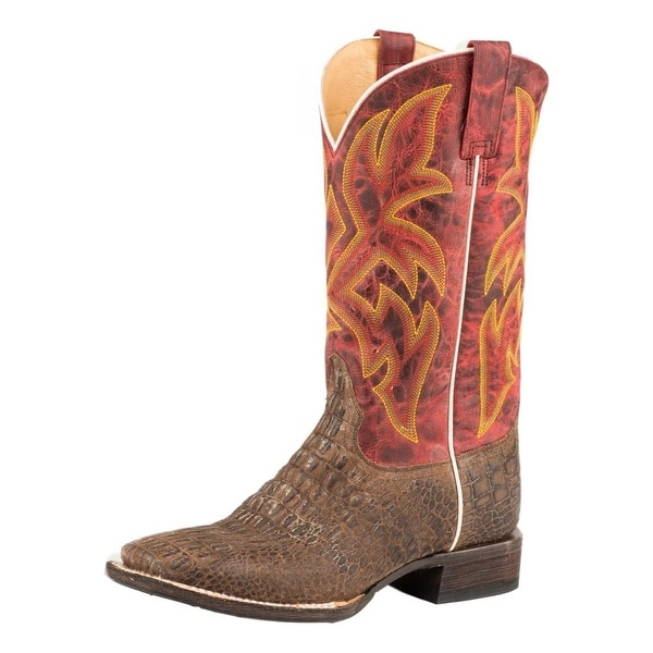 Roper Western Boots Mens Predator Leather Tan