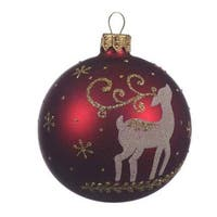 Deer Glass Ball Ornament
