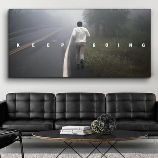 IKONICK Muhammad Ali - Keep Going Canvas Art