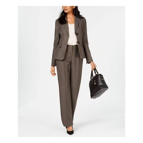 LE SUIT Gray Blazer Straight leg Pant Suit Size 16