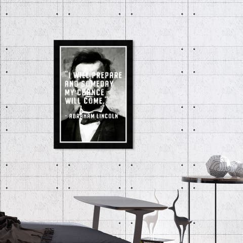 Hatcher & Ethan 'Chance Will Come' Wall Art Framed Print-Black, White