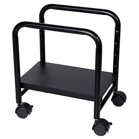 Eureka Ergonomic Cpu Stand Height-Adjustable Computer Desktop Cpu Steel Cart Rolling Stand Adjustable Mobile Cart Holder - Black