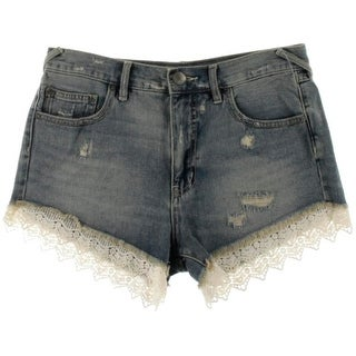Free People Womens Cotton Crochet Trim Casual Shorts - 28