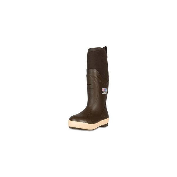 "Xtratuf Men's Elite 12"" Plain Toe Insulated Mid Boots w/ Chevron Outsole-Size 7"