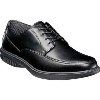 Nunn Bush Men's Morley St. Moc Toe Waterproof Oxford Black Smooth Leather