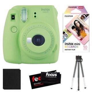 Fujifilm Instax Mini 9 (Lime Green) w/ Macaron Film & Accessory Kit