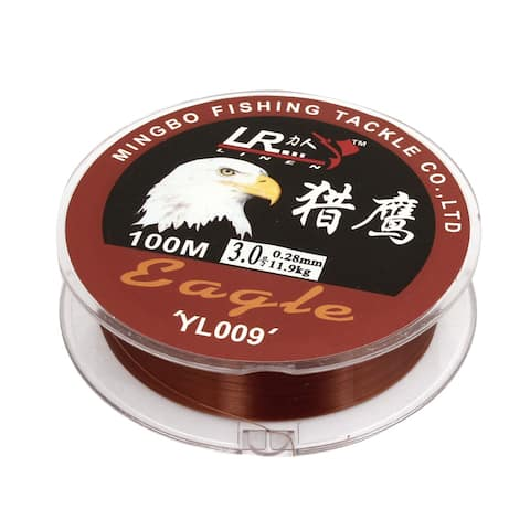 Unique Bargains 109Yds/100M 0.28mm 26.2 lbs Nylon Spool Fishing Line