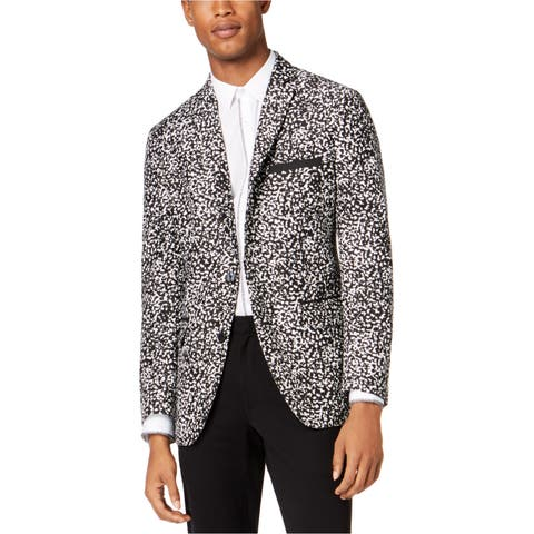 I-N-C Mens Morse Two Button Blazer Jacket