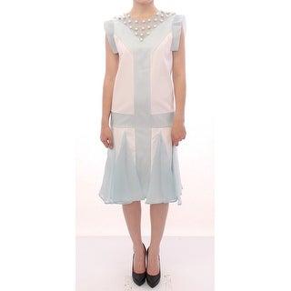 Sergei Grinko Turquoise silk sheath dress