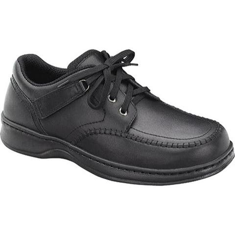 Orthofeet Men's Jackson Square Black Leather