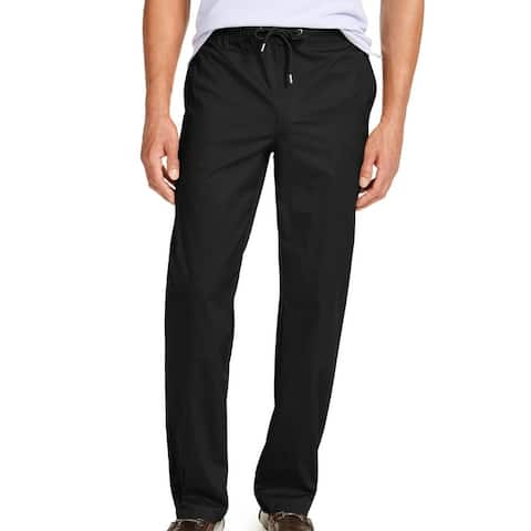 Alfani Men's Pants Black Size 3XL Drawstring Elastic-Band Stretch