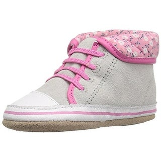 Robeez Girls Floral Flora High Top Sneakers Toddler Suede
