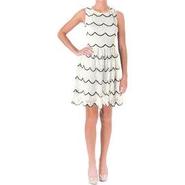 Aqua Womens Crochet Scalloped Cocktail Dress - XS