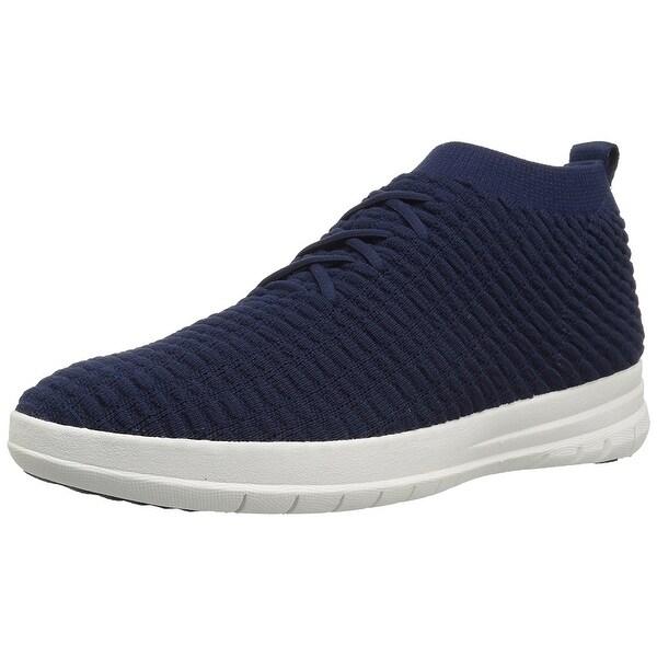 ca4128904b25 Shop FitFlop Men s Uberknit Slip-on High Top Waffle Knit Sneaker ...