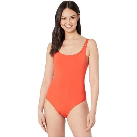 Jets Swimwear Australia Double Strap One-Piece, Tangelo, 14