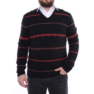 Perry Ellis Autumn Stories Long Sleeve V-Neck Sweater Men Sweater Top