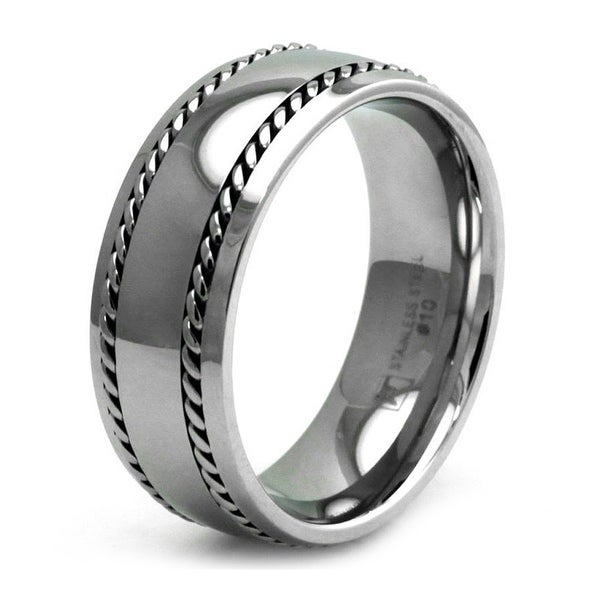 Stainless Steel Double Chain Biker Ring