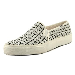 Keds Dbl Deck Met Boucle  Women  Round Toe Canvas White Loafer
