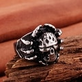 Vienna Jewelry Skull Emblem Stainless Steel Ring - Thumbnail 1