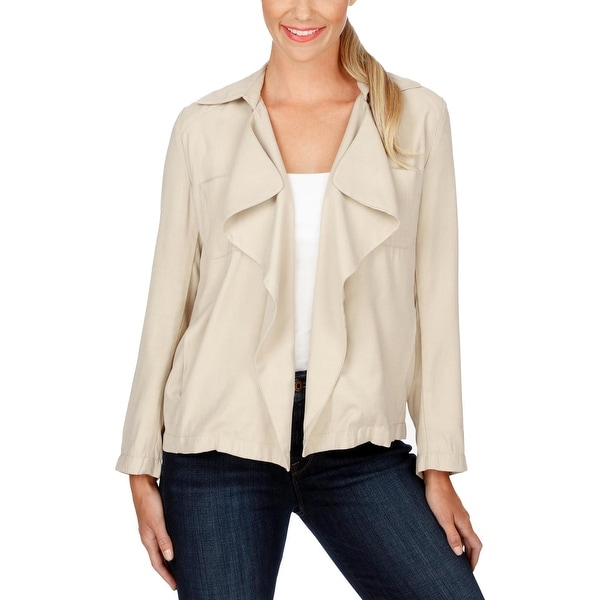 Lucky Brand Womens Blazer Open Front Long Sleeves