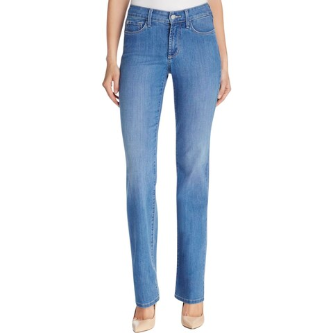 NYDJ Womens Marilyn Straight Leg Jeans Moisture Wicking Straight Leg