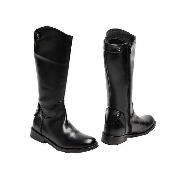 Shop Pazitos Girls Black PU Leather