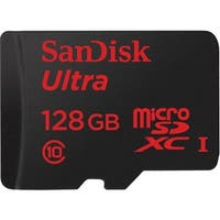 SanDisk SDSQUNC-128G-AN6IA SanDisk Ultra 128 GB microSDHC - Class 10/UHS-I - 80 MB/s Read - 1 Card