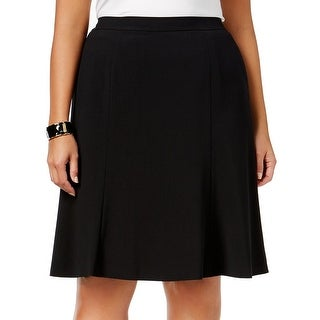 Nine West NEW Black Women's Size 16W Plus Crepe Seamed A-Line Skirt|https://ak1.ostkcdn.com/images/products/is/images/direct/b836be40f7401dca72d1e34764913f50ab3bb0d8/Nine-West-NEW-Black-Women%27s-Size-16W-Plus-Crepe-Seamed-A-Line-Skirt.jpg?_ostk_perf_=percv&impolicy=medium