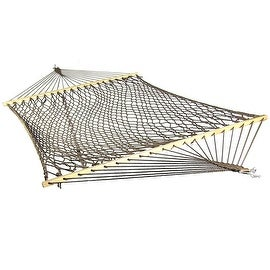 Sunnydaze Caribbean XL Rope Hammock with Spreader Bars