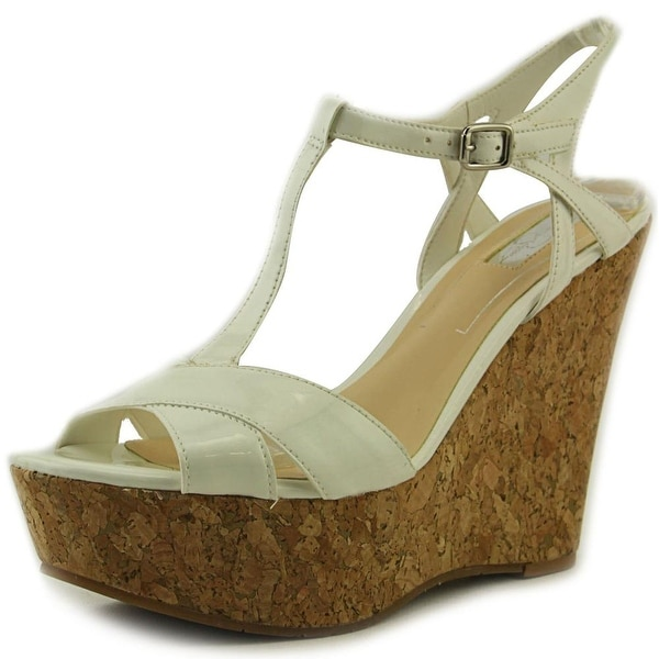 Jessica Simpson Ellrose Women Open Toe Synthetic White Wedge Sandal