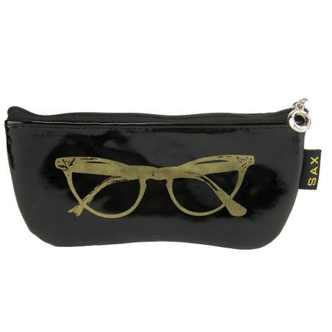 CTM® Women's Metallic Zipper Sunglasses Case - One size