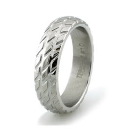 Stainless Steel 6mm High Polish Tire Thread Ring