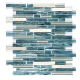 "Miseno MT-GRIZZLYLINEARSH Grizzly - 15"" - Glass Visual - Wall Tile (Sold by Shee"