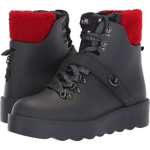 Coach Womens Urban Hiker Fur Closed Toe Ankle Cold Weather Boots
