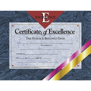 (6 Pk) Certificates Of Excellence 8.5X11 30 Per Pk