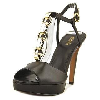Michael Michael Kors Mahari Platform   Open Toe Leather  Platform Heel