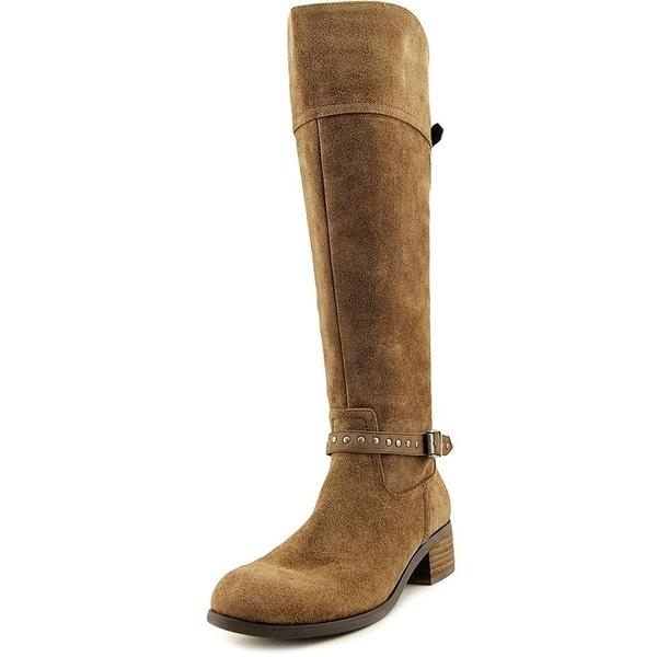 Marc Fisher Womens Tanker Leather Almond Toe Knee High Fashion Boots