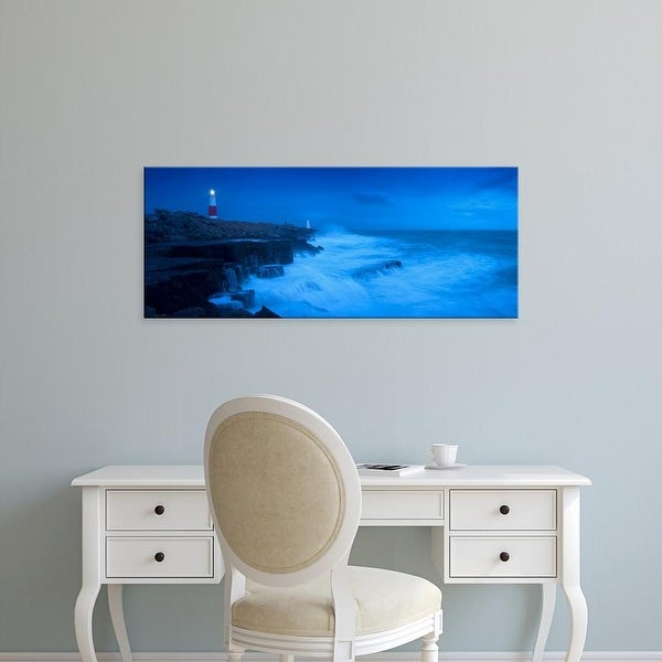 Easy Art Prints Panoramic Images's 'Lighthouse, Portland Bill Lighthouse, Portland Bill, Dorset, England' Canvas Art