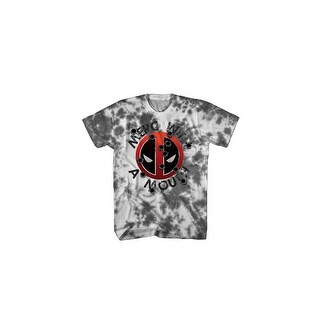 Mad Engine Marvel Deadpool Irresponsible Bullets-1 White/Charcoal Mens Shirt