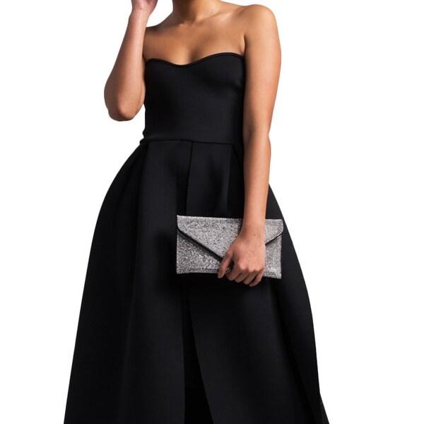 42c990bc Akira Women's Strapless Scuba Knit Petal Hem Maxi Ballgown Dress