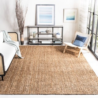 Link to Safavieh Handmade Natural Fiber Jerneja Solid Chunky Jute Rug Similar Items in Casual Rugs