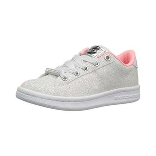 Kids Skechers Girls shimmer street Low Top Lace Up Fashion Sneaker